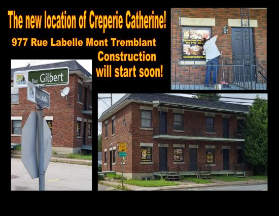 Creperie Catherine : Moving to a new location