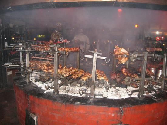 The Carnivore Restaurant: Cooked over open fire pit - Cooked Over Open Fire Pit - Picture Of The Carnivore Restaurant