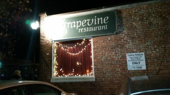 Outdoor signe, Grapevine Restaurant  |  26 Congress Street, Salem, MA