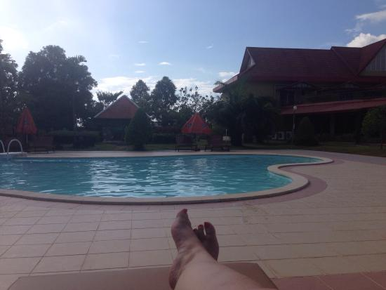 Don Bosco Hotel School: Alone by the clean and quiet pool