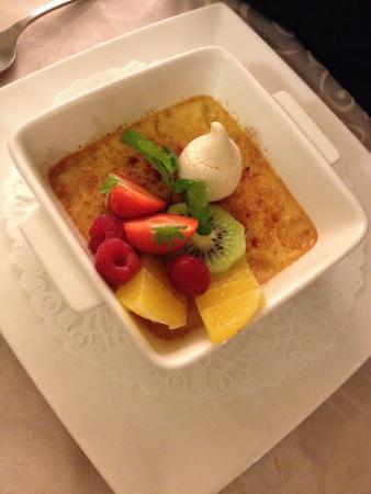 La Table de Francois : Crème brûlée au miel de thym