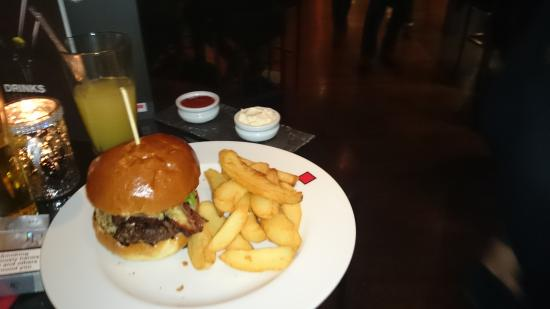 Red Bar and Restaurant: Burger and hand cut chips