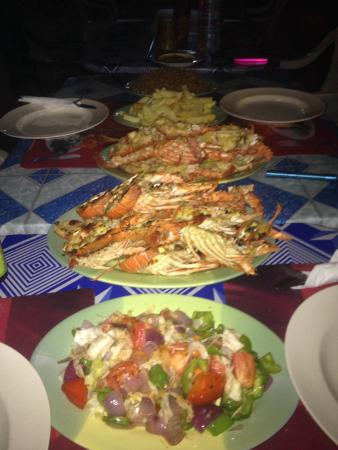 Kangaroo Pouch Beach Resort : Our lobster feast!