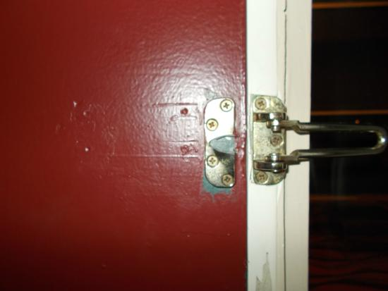 Econo Lodge: The back up security lock??