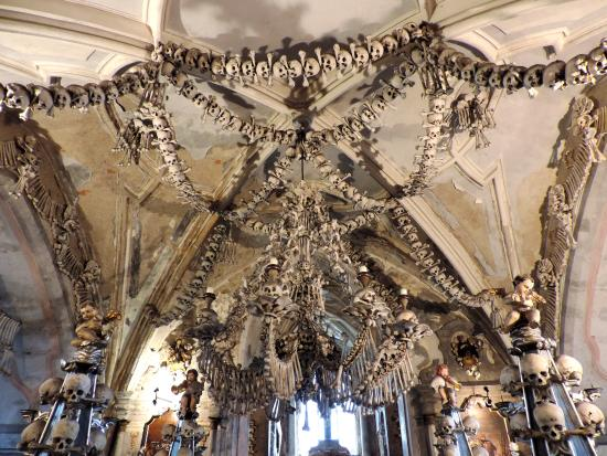 Church of bone chandelier with every bone in the human body the cathedral of assumption church of bone chandelier with every bone in the human body aloadofball Image collections
