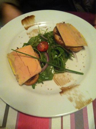 entr e foie gras picture of le bistrot d 39 alco montpellier tripadvisor. Black Bedroom Furniture Sets. Home Design Ideas