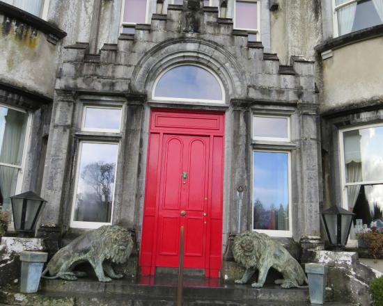 Ballyseede Castle Bright Red Front Door