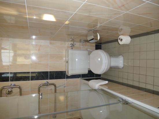 Le Meridien Grand Hotel Nürnberg: 318 Bathroom - narrow space for loo