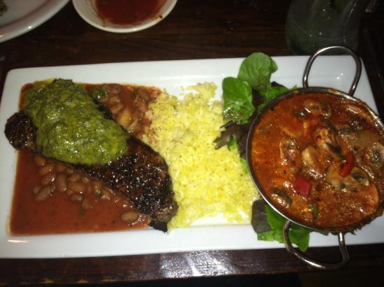Villa Montez: Special-NY strip and chipotle shrimp