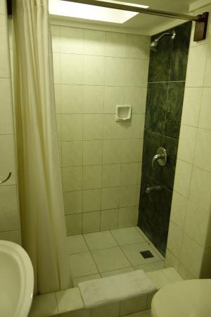 Montebello Villa Hotel : Duschen och toan var inte särskilt stor.