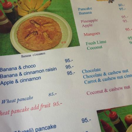 a whole page of pancake options picture of blue diamond breakfast