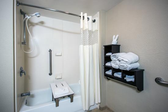 Hampton Inn Sturbridge: Handicap Accessible Bathroom with Tub