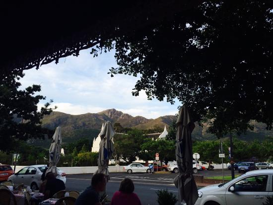 The French Connection: View from our table outside.