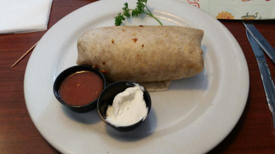 Corkys Kitchen Corona: Machaca, bean and cheese burrito