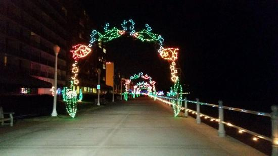 Hilton Virginia Beach Oceanfront Boardwalk Lights