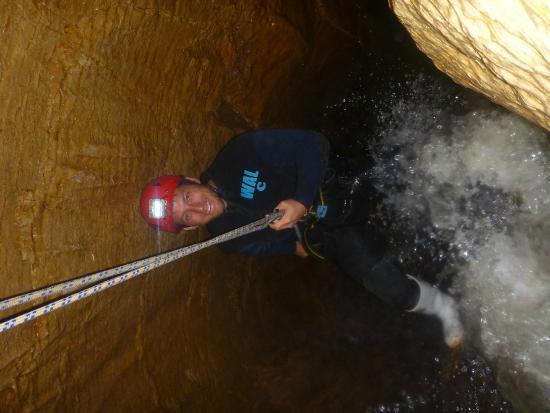 Waitomo Adventures - Haggas Honking Holes: Waitomo abseiling