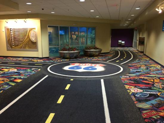 Route 66 Casino Hotel: Carpet throughout the casino and hotel