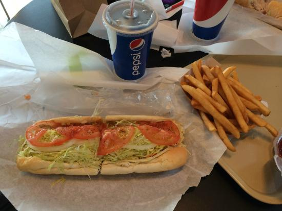 September Farm: Italian hoagie and fries