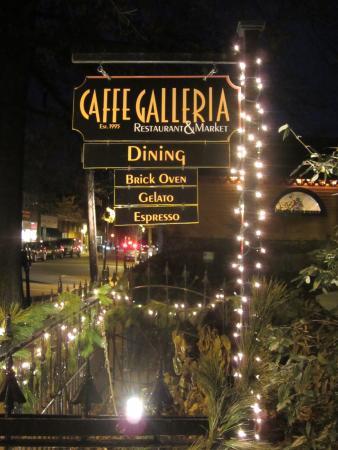 Caffe Galleria: Sign