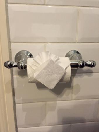 กริมสก็อต มาเนอร์ โฮเต็ล: Amazing toilet roll origami!