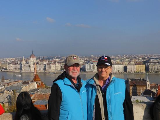 Segway Tours Budapest : The view of the Danube and Parliament from the castle