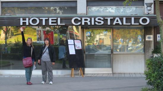 Hotel Cristallo: Frente del Cristallo