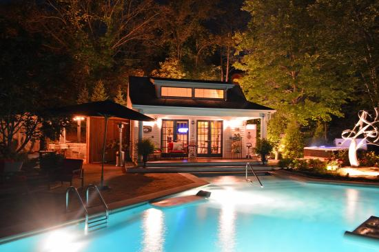 The Inn's Pool Courtyard and State-of-the-Art Spa at Night (116540523)