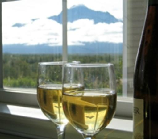 Alaska Garden Gate B & B: This mountain is called Pioneer Peak, 6600 feet tall, the tallest in our area