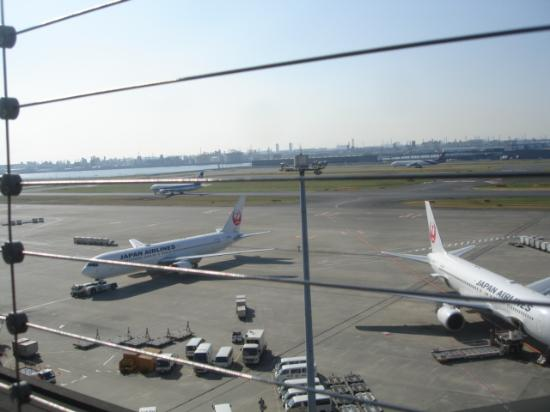 Tokyo International Airport (Haneda) Terminal 1 Observation Deck: 正面は国際線タ-ミナルビル