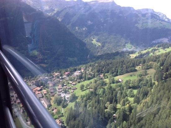 Wengen Mannlichen Aerial Cableway: the ride up