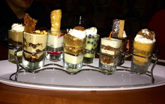 Seasons 52: It is hard to pick one dessert. They all look good and taste good