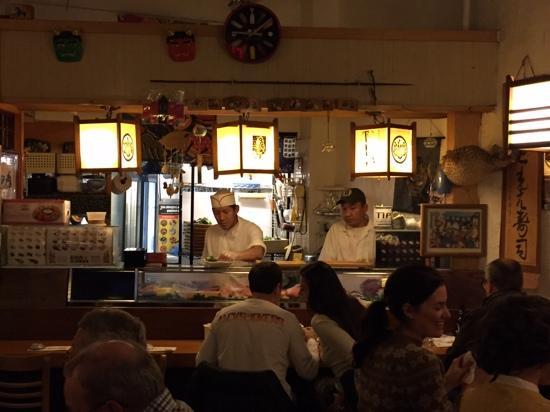 Tomoe Sushi: i love these sushi chefs