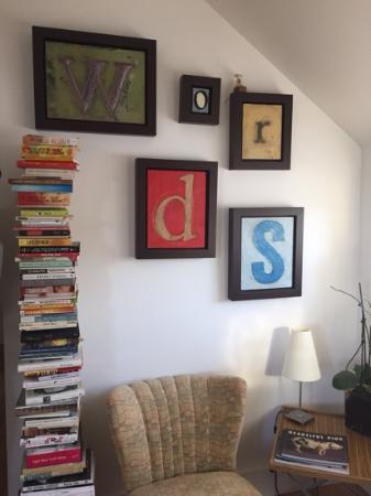 cute reading corner