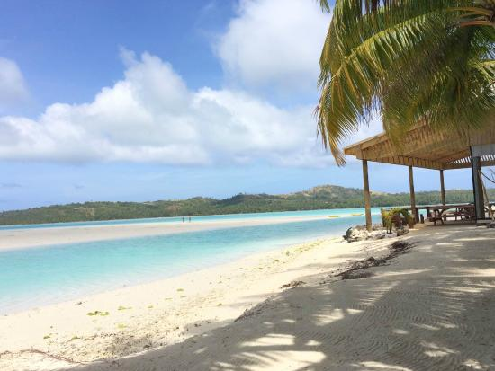 Aitutaki Village: Relaxing on the Beach chairs