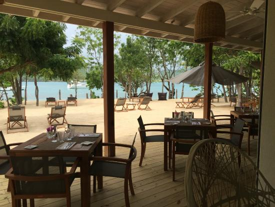 Catherines Cafe Plage: Outdoor area view from our table