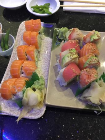 Sango Sushi Restaurant California Roll With Salmon And A Rainbow