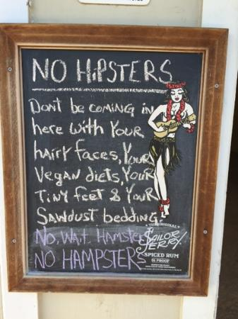 Spankys Riptide: sign outside spankys