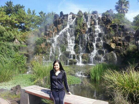 Hallim Park : Искусственный водопад, но красота завораживает.