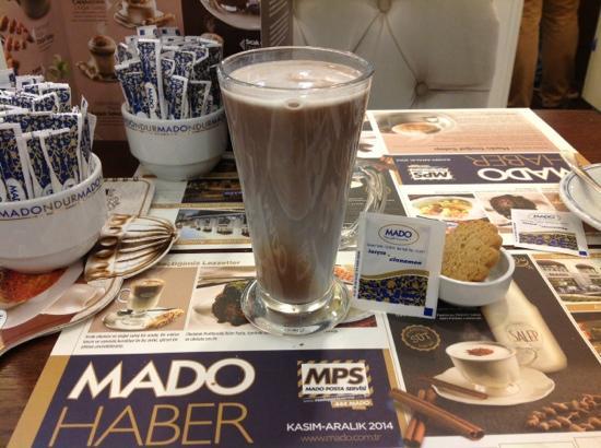Mado: Salep with hot chocolate and cinnamon