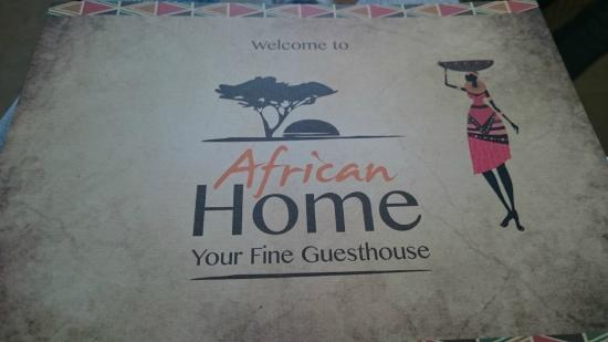 AfricanHome Guesthouse: African Home
