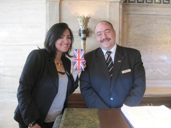 Sonesta Hotel, Tower & Casino Cairo : Mr Shaaban and Miss Haguer here to serve you!