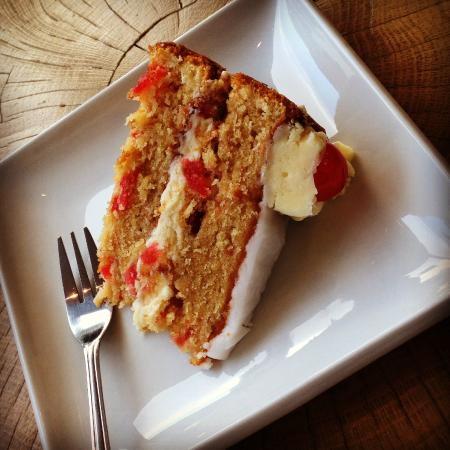 Cherry & coconut cake - Picture of Bartella's Coffee House ...