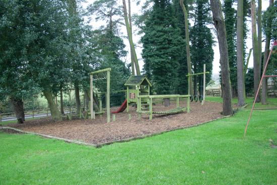 Restaurant at The Anglers Arms: The kids playpark at the back with beer garden