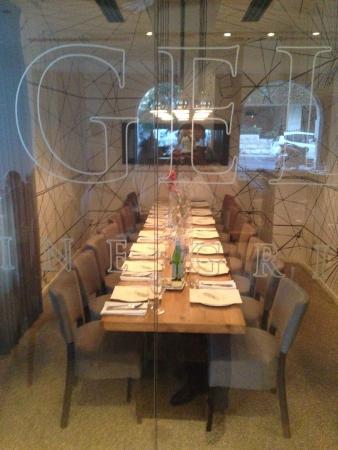 Angelica Fine Grill : חדר פרטי