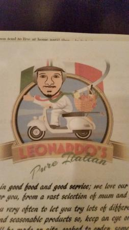 Leonardo's Pure Italian: Menu