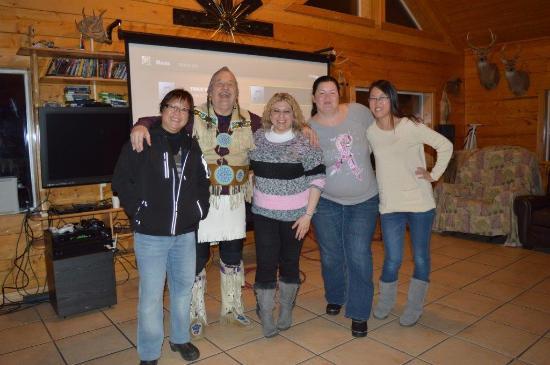 Alaska Northern Lights Tour: Ben with happy guests at Chandalar Ranch