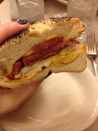 Viand Coffee Shop of 61st St: Salami, egg with cheese. A must try!