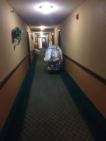 Days Inn Lebanon/Hanover : Hallway won't win any design awards, but at least there is one.
