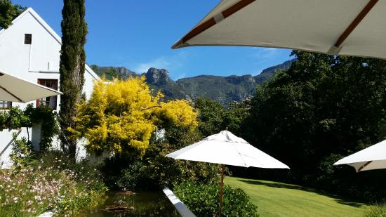 The Cellars-Hohenort: View from breakfast area