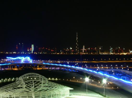 Meydan Racecourse: Vue depuis la terrasse de l'hippodrome Meydan